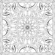 Download Coloring Page Book For Adults Square Format Mandala Flower Design Vector Illustration Stock