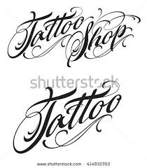 Tattoo Letters Stock Images Royalty Free Vectors