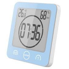 lcd digital badezimmer uhr berührungssteuerung thermometer hygrometer wasserdichte koch timer