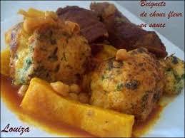 cuisine algerienne madame rezki beignets de choux fleur en sauce par louiza