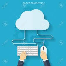 100 Flat Cloud Cloud Computing Background Data Storage Network Technology