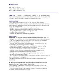 Best Solutions Of It Project Manager Resume Objective Marketing Statement Examples