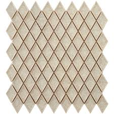 American Olean Porcelain Mosaic Tile by Merola Tile Crackle Diamond Ice 12 In X 12 In X 8 Mm Ceramic