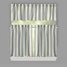 Window Art Tier Curtains And Valances by Willow Branch Farmhouse Country Stripe Window Tier U0026 Valance Set