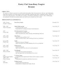 Resume Of A Chef Professional Objective Culinary Examples Position Sample