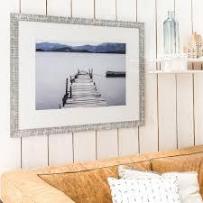 cadre tribal 60 x 80 cm gris leroy merlin