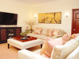 sophisticated living room gallery with asian themed