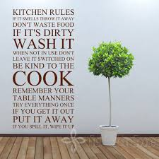 Large Quote Kitchen Rules Vinyl Wall Art Sticker Stickers For Decor Free Shipping Size