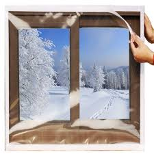 100 Hill Country Insulation SESCO Reusable Transparent Indoor Window KitHeavy Duty Weatherproof Insulator For Summer Winter48x63