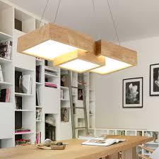 modern wooden led pendant light fixtures for restaurant kitchen