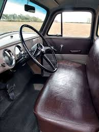 1954 Chevy Truck Interior View Brown Bench Seat Chev Burbs etc