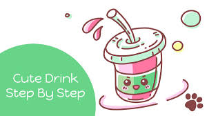 LetsDrawMeow On Twitter How To Draw A Cute Drink Starbucks Cartoon Drawing Easy For Kids Lets Meow