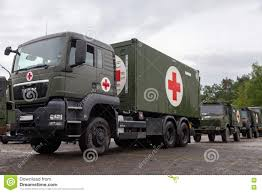 German Rescue Center System On Trucks Stands On Plate Editorial ...