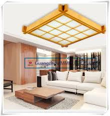 japanischen stil holz led deckenleuchte schaffell abdeckung ultradünne tatami schlafzimmer wohnzimmer studie len weiß 38 cm 16 watt ac200 240v