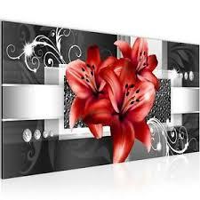 details zu wandbilder blumen lilien vlies leinwand bild wohnzimmer flur schlafzimmer