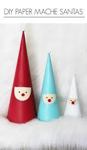 DIY Paper Mache Santas Artzy Creations