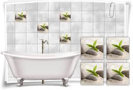 fliesenaufkleber fliesenbild zen steine sand bambus wellness spa aufkleber deko bad wc