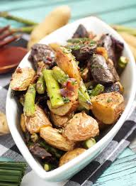 Roasted Fingerling And Asparagus Potato Salad From The Girl In Little Red Kitchen