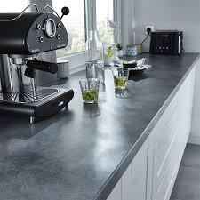 cuisine plan de travail gris deco cuisine gris plan de travail ardoise idées décoration