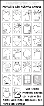 ABC Printable Activity Sheets With Eight Fun Hands On Games To Review The Alphabet From