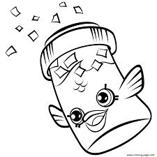 Fish Flake Jake Petkins Shopkins Season 4 Coloring Pages Printable