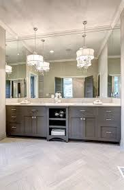 vanity chandeliers transitional kitchen clark and co homes