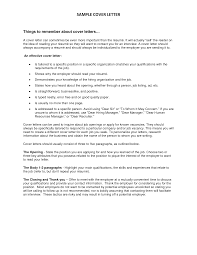 Cover Letter No Specific Address