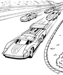 Race Cars Hot Wels Coloring Pages