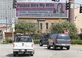 Husband Gets Creative To Aid Wife's Job Search | Toledo Blade