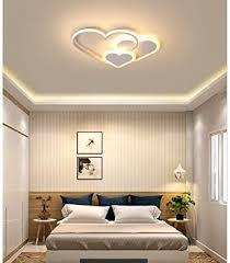 led schlafzimmer leuchte deckenleuchte chic liebe design modern dimmbar hochzeitszimmer deckenle warm romantisch acryl schirm kinderzimmer