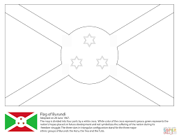 Click The Flag Of Burundi Coloring Pages