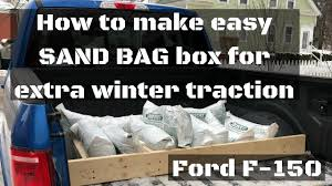 How To Make Winter SAND BAG BOX For Ford F-150 Pickup Truck | Extra ...