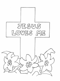 Cross Coloring Pages Jesus Loves Me