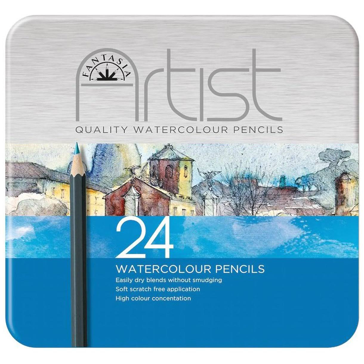 Fantasia - Premium Watercolor Pencil Set 24pc - (601320)