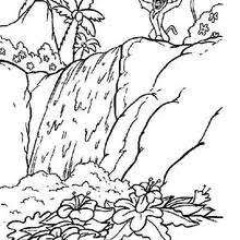 Simbatimon And Pumbaa Walking The Pride Lands Coloring Pages