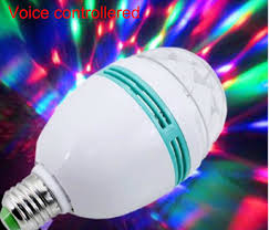 voice controlled 3w 6w auto rotating led stage light magic