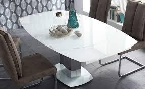 21703 esstisch ausziehbar ø 130 190 white glas edelstahl günstig möbel küchen büromöbel kaufen froschkönig24