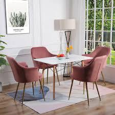 details zu essgruppe rechteckig esstisch mit 4 samt stühlen sitzgruppe esszimmer 5tlg set