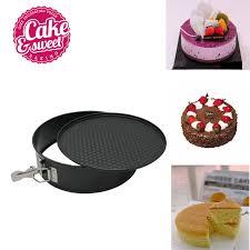 7 kuchen backen pan runde form backen trays carbon stahl springform pan unten abnehmbare diy kuchen form 1 stücke