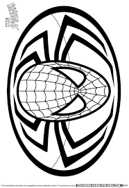 Spider Man Logo Coloring Page