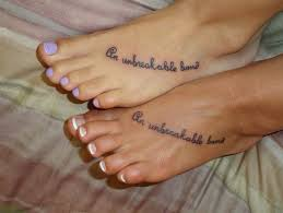 Matching Sister Foot Tattoo Idea If Only My Liked Tattoos I Would Get This