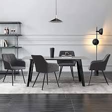 clipop esszimmerstuhl 4er set kunstleder küchenstuhl