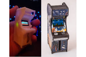 tiny arcade a retro tiny playable game cabinet by ken burns