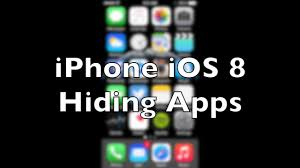 iPhone iOS 8 or 9 How to hide apps NO JAILBREAK