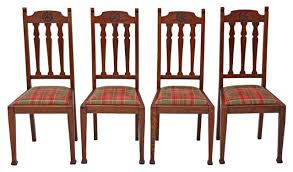 Antique Quality Set Of 4 Oak Dining Chairs Art Nouveau - Prior ... Set Of 8 Vintage Midcentury Art Nouveau Style Boho Chic Italian Stunning Of Six Inlaid Mahogany High Back Chairs 2 Pair In Antiques Atlas Lhcy Solid Wood Ding Chair Armchair Lounge Nordic Style A Oak Set With Table Seven Chairs And A Side Ding Suite Extension Table France Side In Leather Chairish Gauthierpoinsignon French By Gauthier Louis Majorelle Caned An Edouard Diot Art Nouveau Walnut And Brass Ding Table Four 1930s American Classical Shieldback 4