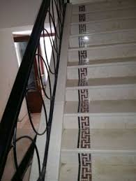 Botticino Cream Stairs With Antique Border Design