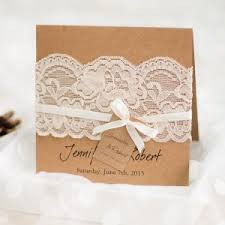 Exquisite Vintage Rustic Folded Wedding Invitations Lace EWLS045
