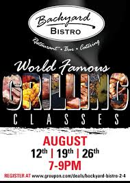 August Grilling Classes At Backyard Bistro - Raleigh Food & Wine ... Backyard Bistro Raleigh Nc Youtube 150 Best Wedding Ideas Images On Pinterest Bauer Brief Burger Challenge Hot Bowl Of Soup Please Joveco Ratten Wicker Outdoor Ding Table Glass Classic Rattan Chairs The Cooking Actress Gervasi Vineyard Review And Happy 4th July Garden Bright Orange Cantilever Umbrella Stock Photo Amazoncom Globe String Lights With G40 Bulbs 50 Ft By Deneve Our Area Plan New Darlings Patio Fniture Sets