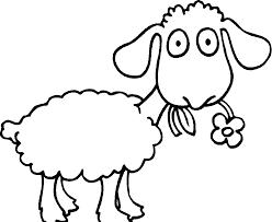 Pin Sheep Clipart Coloring Page 7
