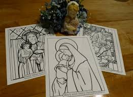 Beautiful Catholic Coloring Pages To Print Madona And Child Mary Holding Jesus